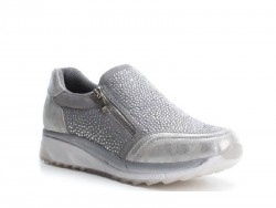Zapatillas casual brillantes BASS3D plata