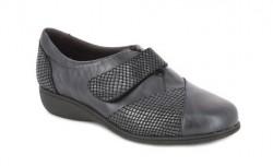 Zapato Doctor Cutillas con velcro de piel negro
