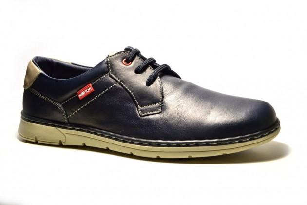 Azul Notton Piel Zapato Zapato Atado XkZOPui