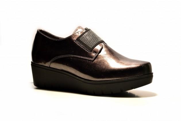 Plataforma Zapato Charol Charol Elástico Zapato Puche eDE9WH2YI